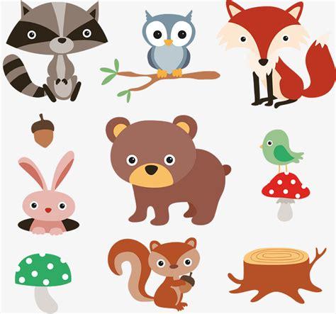 dibujos infantiles con animales flores y plantas en dibujos animados de animales y plantas del bosque 9