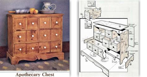 Kitchen Cabinet Woodworking Plans by Apothecary Chest Plans Woodarchivist