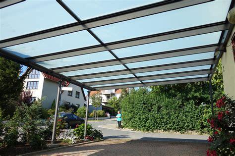 carport aluminium glas carport aus glas und aluminium glalum