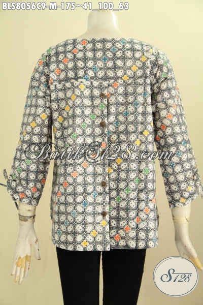 Atasan Batik Belakang model baju batik atasan wanita blus batik tanpa krah