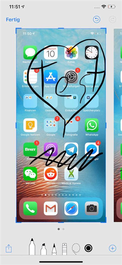 iphone xs xs max xr screenshot machen mit zwei tasten und bearbeiten techmixx
