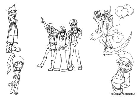 Souleater Free Colouring Pages Soul Eater Coloring Pages