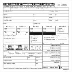 Towing Company Receipt Template Towing Invoice Templatebest Business Template Best