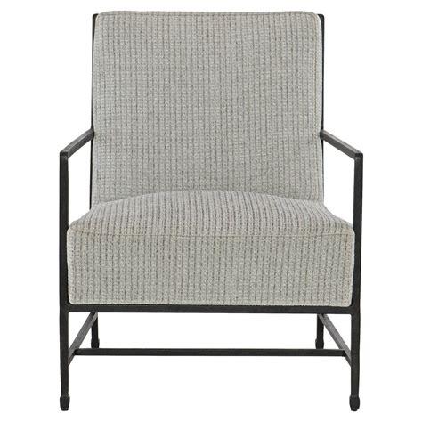 Tweed Armchair by Zelena Industrial Black Iron Grey Tweed Armchair Kathy