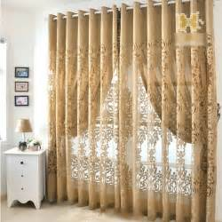 gold european design beautiful bedroom curtains