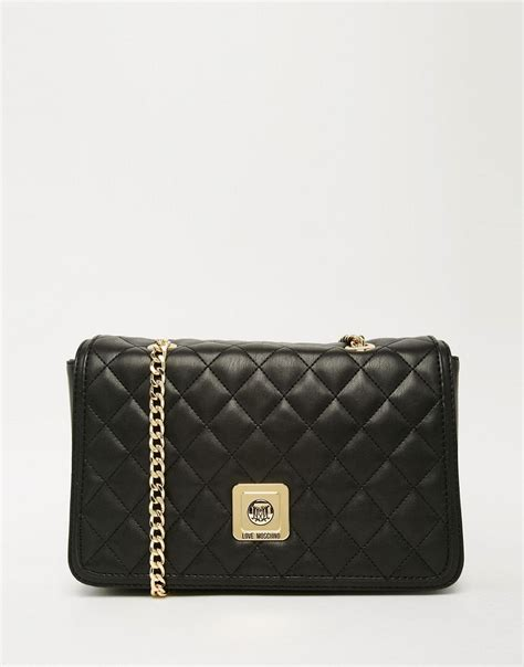 Moschino Quilted Shoulder Bag by Moschino Moschino Quilted Shoulder Bag With