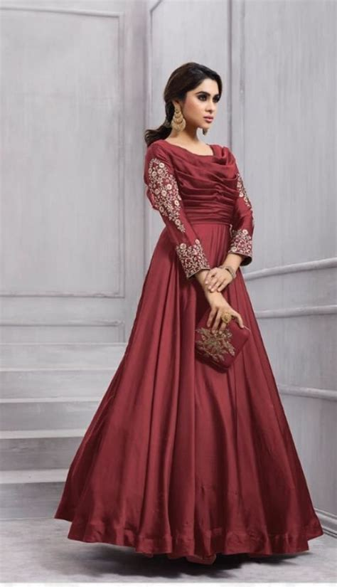 indian bollywood long gown dresses wedding wear womens