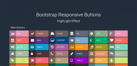 bootstrap responsive color full buttons with hover effect 50 best css buttons to download weelii