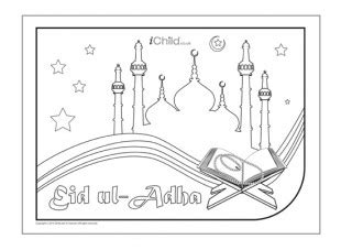 eid ul adha cards template eid ul adha colouring in picture ichild