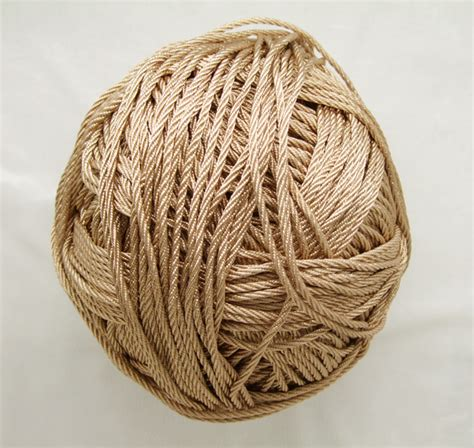 Macrame Yarn - free shipping 10mtrs lot vintage chagne 3mm