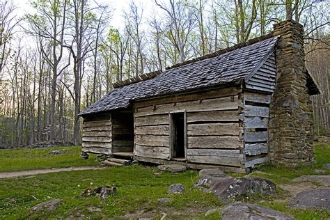Cabins Smoky Mountains Tennessee by Ephraim Bales Cabin In Great Smoky Mountains National Park Tennessee Photograph By Brendan Reals