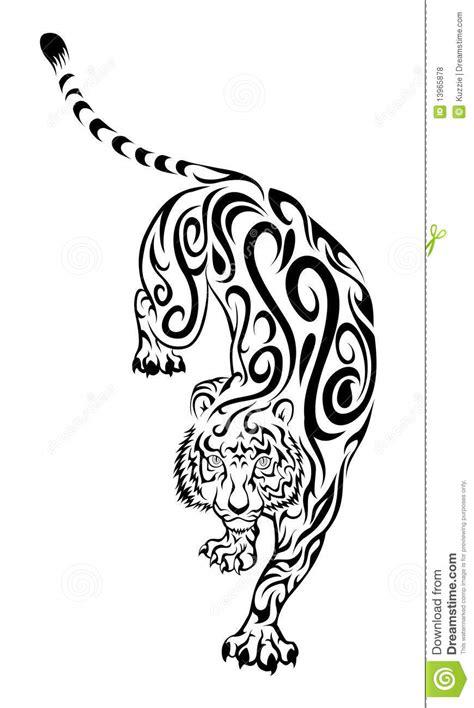 Stiker Tribal Macan 001 tiger stock vector image of whisker black wildcat 13965878