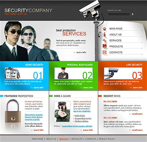 security website template id 300076380