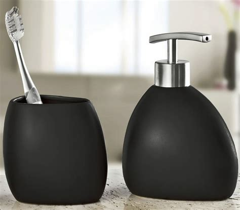 stoneware bathroom accessories modern black stoneware bathroom accessories set 2 pieces
