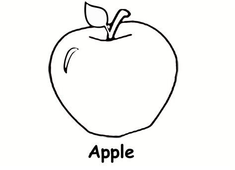 apple coloring page for preschoolers free coloring book pages free printable apple coloring