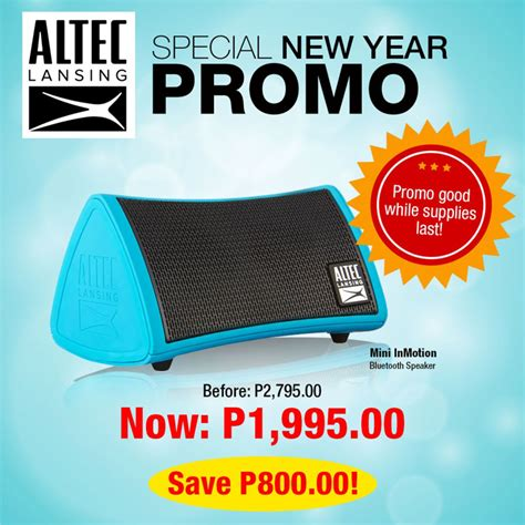junction 8 new year promotion altec lansing ph announces new year promotion techporn