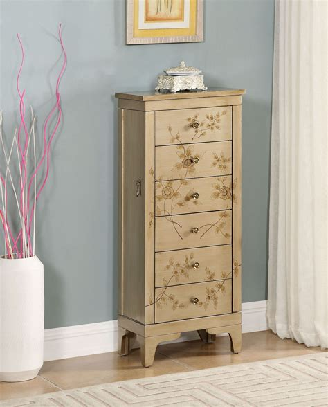 gold jewelry armoire rio metallic gold jewelry armoire 91791 coast to coast