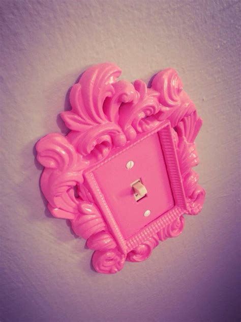 lovely lightswitch decal  add  feminine touch   decor pink homewares