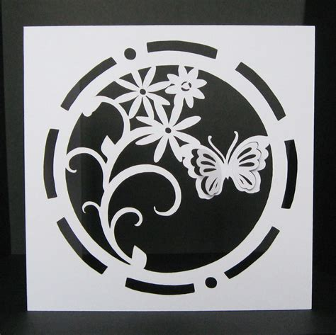 circle card template circle butterfly card template 5 x 5 inch
