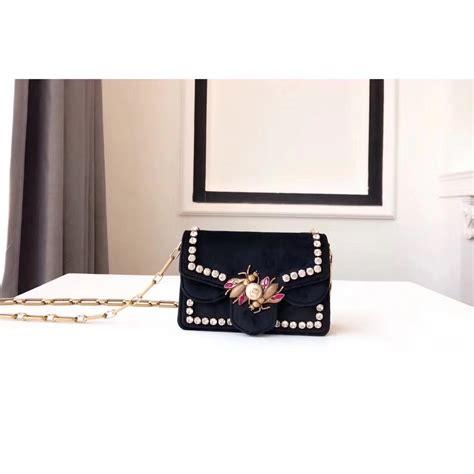 Bag Gucci Box Mini Wallet Black gucci 489218 broadway black velvet mini bag