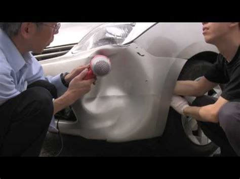 Hair Dryer Repair Dent diy toyota prius bumper dent fix with a hair dryer