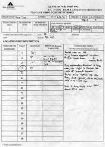 script supervisor template script supervisor sheets
