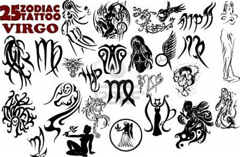 virgo sign tattoos 25 zodiac virgo designs tattooshunt