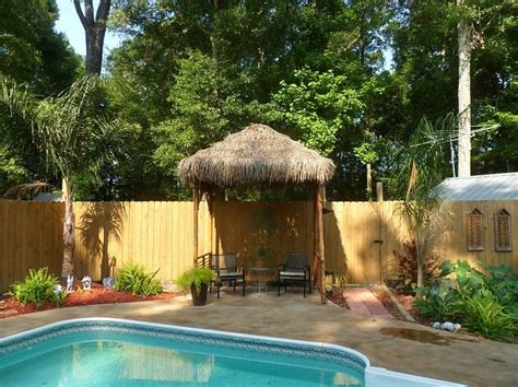 hut diy diy outdoor tiki hut using repurposed materials fresh and reused bamboo thatch and bolts