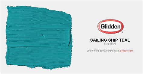 sailing ship teal paint color glidden paint colors