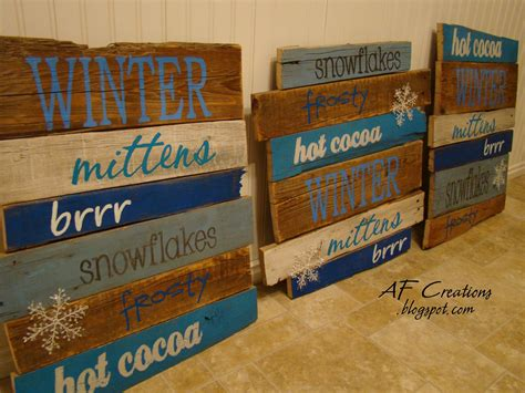 pallet signs a f creations winter pallet signs