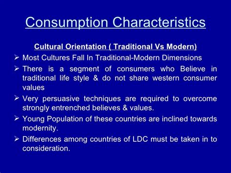 modern biography characteristics consumption characteristics disposal