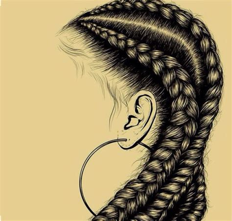 how to do doodle braids hair black braids cornrows ear ring drawing doodle