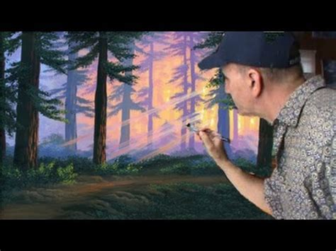acrylic painting forest tutorial how to paint forest sunset complete acrylic canvas