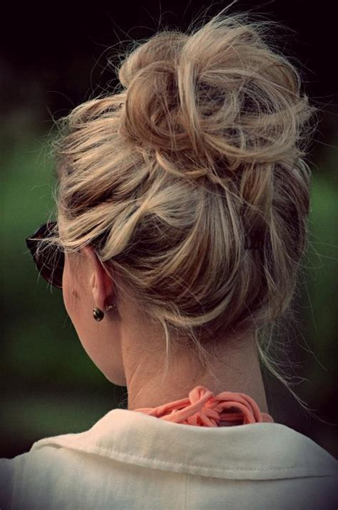 buns hairstyles how to the perfect messy bun hairstyles how to
