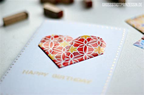 Origami Cards For Birthdays - origami birthday card diy gro 223 stadtprinzessin