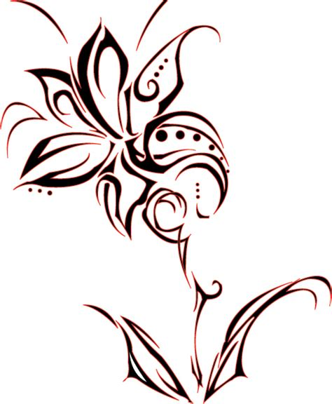 tribal lily tattoos 22 amazing tribal flower tattoos only tribal