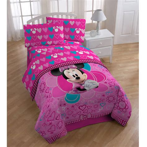 minnie mouse twin bedding set kids disney minnie mouse twin full comforter sheets