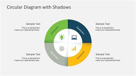 using circular diagrams to model a process cycle in powerpoint 4 steps circular powerpoint diagram with shadows