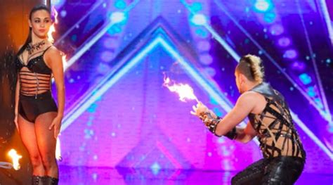 agt act deadly thrills with knife throwing act on america s got talent 2016