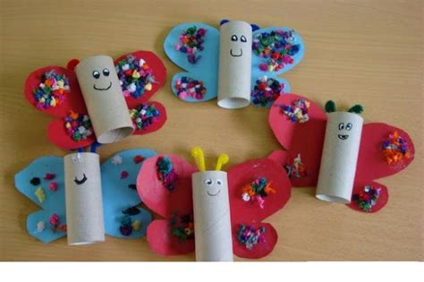 Craft Projects With Toilet Paper Rolls - toilet paper roll butterfly crafts 1 171 preschool and