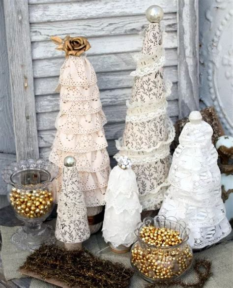 christmas decorations made at home 50 splendid homemade diy lace crafts to your home d 233 cor