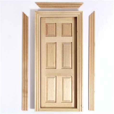 wooden interior door   scale dolls house tc