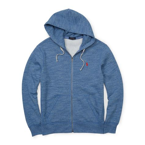 Hoodie Pink Polos polo ralph fleece zip hoodie in blue for