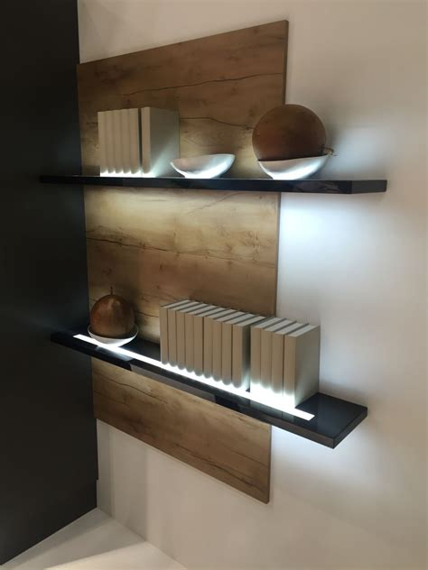 Floating Shelf Lighting stylish shelving units help improve your home decor