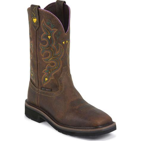 justin work s composite toe western work boot jwkl4664
