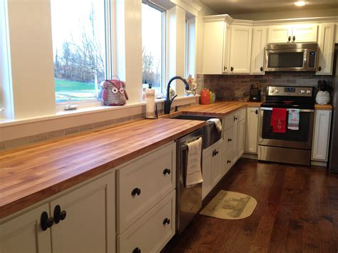 kitchen butcher block kitchen countertops diy wide plank