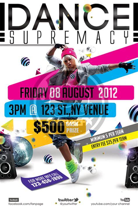 dance supremacy dance battle flyer template by koza30 on
