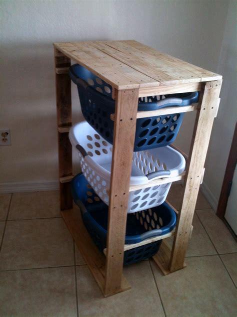 Dresser Organizer Diy by White Pallet Laundry Basket Dresser By Pallirondack
