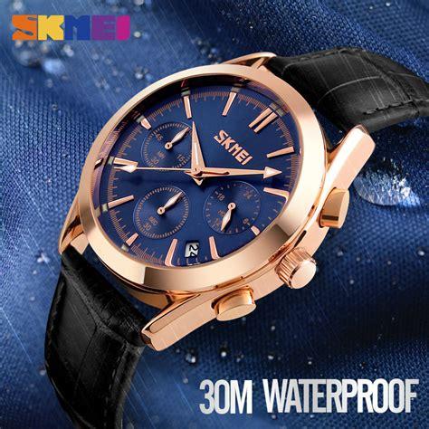 Jam Tangan Pria 4 skmei jam tangan analog pria 9127 white jakartanotebook