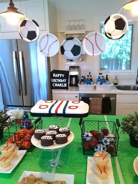 sports themed birthday decorations sports themed birthday party harlow thistle home